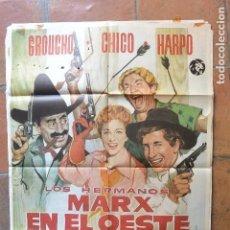Cine: POSTER CARTEL CINE LOS HERMANOS MARX EN EL OESTE. Lote 94162185