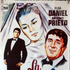 Cine: LA NOVIA. ELSA DANIEL-ANTONIO PRIETO. CARTEL ORIGINAL 1962. 70X100. Lote 94465646
