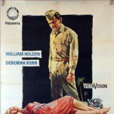 Cine: LOS HEROES TAMBIEN LLORAN. WILLIAM HOLDEN-DEBORAH KERR. CARTEL ORIGINAL 1960. 70X100. Lote 94467286