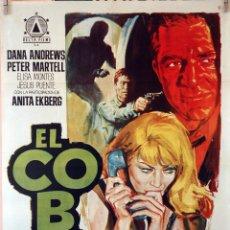 Cine: EL COBRA. DANA ANDREWS-ANITA EKBERG. CARTEL ORIGINAL 1968. 70X100. Lote 94467550