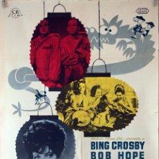 Cine: DOS FRESCOS EN ÓRBITA. BING CROSBY-BOB HOPE-JOAN COLLINS. CARTEL ORIGINAL 1962. 70X100. Lote 94495810