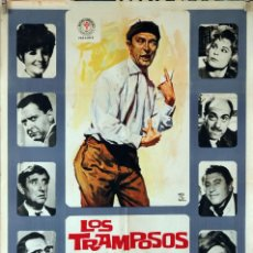 Cine: LOS TRAMPOSOS. TONY LEBLANC-PEDRO LAZAGA. CARTEL ORIGINAL 1964. 70X100. Lote 94520158