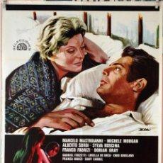 Cine: SIRENAS EN SOCIEDAD. MARCELO MASTROIANNI-MICHELE MORGAN. CARTEL ORIGINAL 1971. 70X100. Lote 94520594