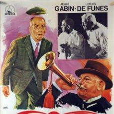 Cinema: EL TATUADO. LOUIS DE FUNES-JEAN GABIN. CARTEL ORIGINAL 1968. 70X100. Lote 94521230