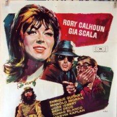 Cine: OPERACIÓN DALILA. RORY CALHOUN-GIA SCALA. CARTEL ORIGINAL 1964. 70X100. Lote 94523414