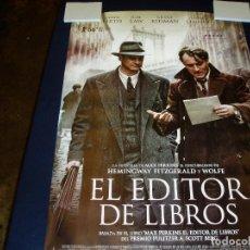 Cine: EL EDITOR DE LIBROS. POSTER O CARTEL DE CINE. ORIGINAL. MUY BUEN ESTADO.. Lote 245106460