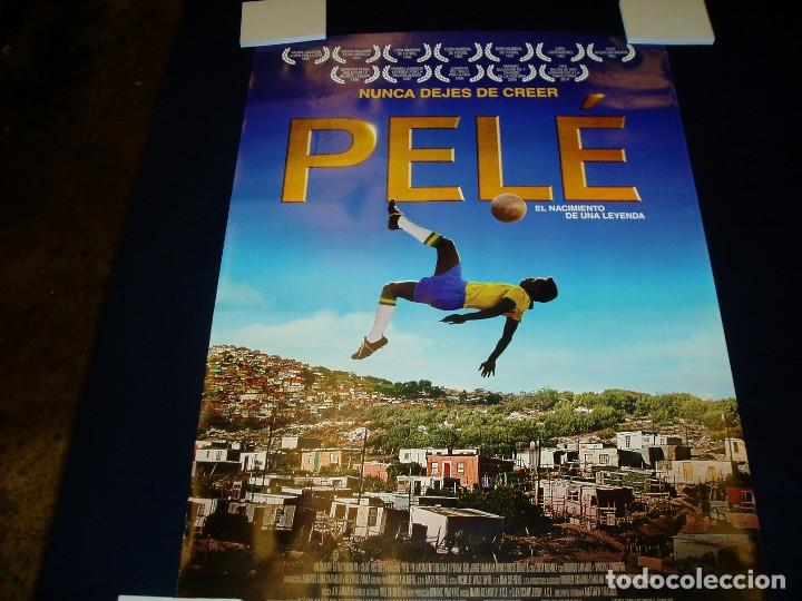 PELE. POSTER O CARTEL DE CINE. ORIGINAL. MUY BUEN ESTADO. (Cine - Posters y Carteles - Deportes)