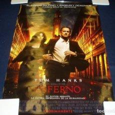 Cinema: INFERNO. POSTER O CARTEL DE CINE. ORIGINAL. MUY BUEN ESTADO.. Lote 94687779