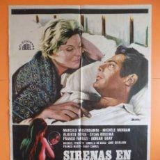 Cine: CARTEL, POSTER CINE- SIRENAS EN SOCIEDAD - AÑO 1971- VER 6 FOTOS Y DESCRIPCIÓN ... R-6881. Lote 94848527