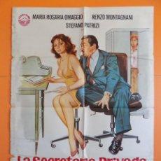 Cine: CARTEL, POSTER CINE-LA SECRETARIA PRIVADA DE MI PADRE -AÑO 1977-VER 8 FOTOS Y DESCRIPCIÓN ... R-6893. Lote 94869319