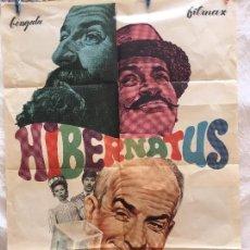 Cine: CARTEL DE CINE DEL ESTRENO DE LA PELÍCULA HIBERNATUS EL ABUELO CONGELADO (1969). Lote 94988071