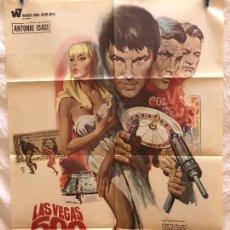 Cine: CARTEL DE CINE DEL ESTRENO DE LA PELÍCULA LAS VEGAS 500 MILLONES (1968). Lote 94988307