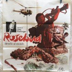 Cine: CARTEL DE CINE DEL ESTRENO DE LA PELÍCULA ROSEBUD DESAFÍO AL MUNDO (1975). Lote 94989279