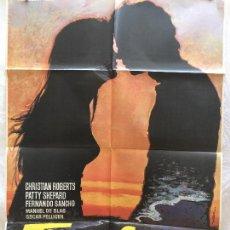 Cine: CARTEL DE CINE DEL ESTRENO DE LA PELÍCULA TIMANFAYA (AMOR PROHIBIDO) (1972). Lote 94990087