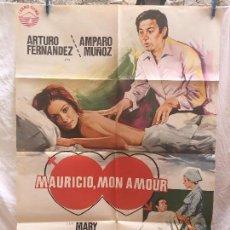 Cine: CARTEL DE CINE DEL ESTRENO DE LA PELÍCULA MAURICIO, MON AMOUR (1976). Lote 95017283