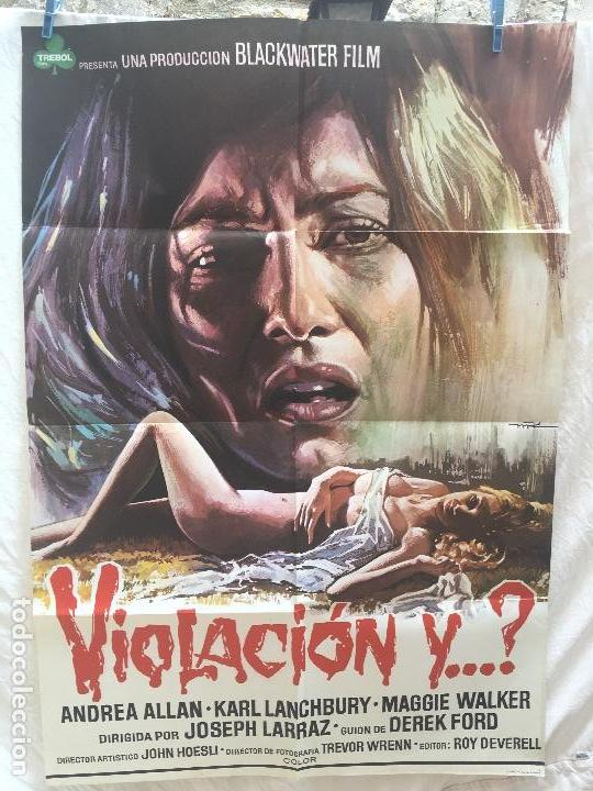 CARTEL DE CINE DEL ESTRENO DE LA PELÍCULA VIOLACIÓN Y...? (1973) (Cine - Posters y Carteles - Terror)