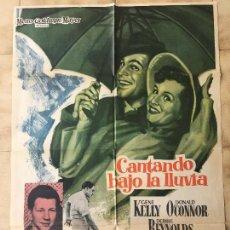 Cine: CARTEL DE CINE DE LA PELÍCULA CANTANDO BAJO LA LLUVIA. Lote 95146411