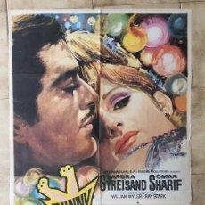 Cine: CARTEL DE CINE DEL ESTRENO DE LA PELÍCULA FUNNY GIRL (1968). Lote 95148607