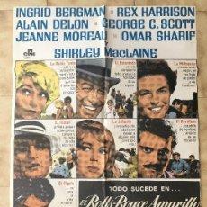 Cine: CARTEL DE CINE DEL ESTRENO DE LA PELÍCULA EL ROLLS-ROYCE AMARILLO (1964). Lote 95152131