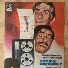 Cine: CARTEL DE CINE DEL ESTRENO DE LA PELÍCULA ESTUDIO AMUEBLADO 2.P. (1969). Lote 95152967