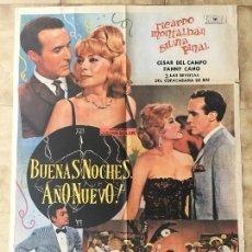 Cine: CARTEL DE CINE DEL ESTRENO DE LA PELÍCULA BUENAS NOCHES AÑO NUEVO! (1964). Lote 95156875