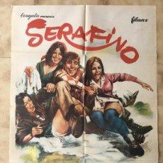Cine: CARTEL DE CINE DEL ESTRENO DE LA PELÍCULA SERAFINO (1968). Lote 95157067