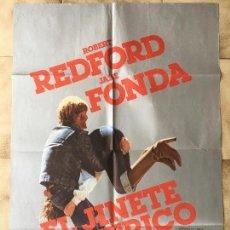 Cine: CARTEL DE CINE DEL ESTRENO DE LA PELÍCULA EL JINETE ELÉCTRICO DE ROBERT REDFORD Y JANE FONDA (1979). Lote 95157347