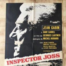 Cine: CARTEL DE CINE DEL ESTRENO DE LA PELÍCULA INSPECTOR JOSS (1968). Lote 95158491