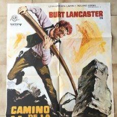 Cine: CARTEL DE CINE DEL ESTRENO DE LA PELÍCULA CAMINO DE LA VENGANZA DE BURT LANCASTER (1968). Lote 95159527