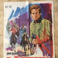 Cine: CARTEL DE CINE DEL ESTRENO DE LA PELÍCULA EL AVENTURERO DE GUAYNAS (1966). Lote 95167291