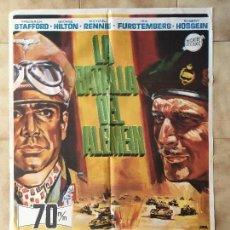 Cine: CARTEL DE CINE DEL ESTRENO DE LA PELÍCULA LA BATALLA DEL ALEMEIN (1969). Lote 95167887