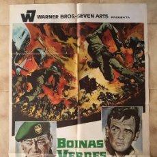 Cine: CARTEL DE CINE DEL ESTRENO DE LA PELÍCULA BOINAS VERDES, DE JOHN WAYNE (1968). Lote 95168975