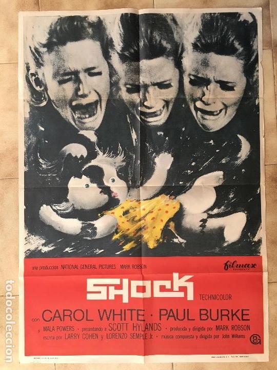 CARTEL DE CINE DEL ESTRENO DE LA PELÍCULA SHOCK (1969) (Cine - Posters y Carteles - Terror)