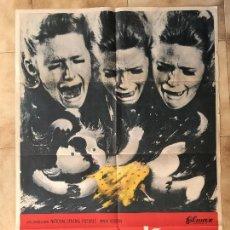 Cine: CARTEL DE CINE DEL ESTRENO DE LA PELÍCULA SHOCK (1969). Lote 95184427