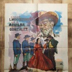Cine: CARTEL DE CINE DEL ESTRENO DE LA PELÍCULA EL ÚLTIMO MEJICANO (1960). Lote 95016451