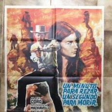 Cine: CARTEL DE CINE DEL ESTRENO DE LA PELÍCULA UN MINUTO PARA REZAR... UN SEGUNDO PARA MORIR (1968). Lote 95235830
