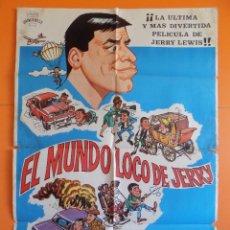 Cine: CARTEL POSTER DE CINE - EL MUNDO LOCO DE JERRY - AÑO 1983 - ORIGINAL.... R-6960. Lote 95334319