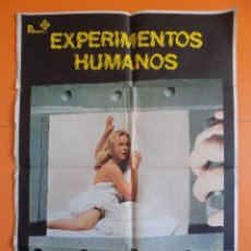 Cine: CARTEL POSTER DE CINE - EXPERIMENTOS HUMANOS - AÑO 1981 - (70 X 100 CM) - ORIGINAL.... R-6962. Lote 95335083