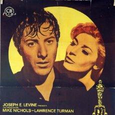 Cine: EL GRADUADO. DUSTIN HOFFMAN-ANNE BANCROFT. CARTEL ORIGINAL 1969. 70X100. Lote 95367995