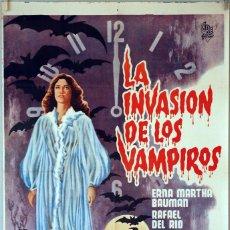 Cine: LA INVASIÓN DE LOS VAMPIROS. MIGUEL MORAYTA. CARTEL ORIGINAL. 70X100. Lote 95368475