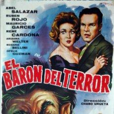 Cine: EL BARÓN DEL TERROR. CHANO URUETA. CARTEL ORIGINAL 1965. 70X100. Lote 95368727