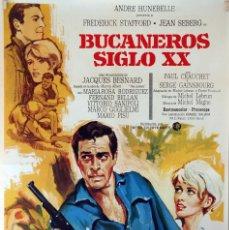 Cine: BUCANEROS SIGLO XX. FREDERICK STAFFORD-JEAN SEBERG. CARTEL ORIGINAL 1970. 70X100. Lote 95450491