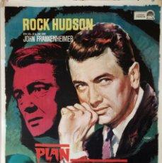 Cine: PLAN DIABÓLICO. ROCK HUDSON-JOHN FRANKENHEIMER. CARTEL ORIGINAL 1967. 70X100. Lote 95451775