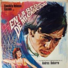 Cine: EN LA RED DE MI CANCIÓN. CONCHA VELASCO-CASSEN-MARIANO OZORES. CARTEL ORIGINAL 1971. 70X100. Lote 95451943