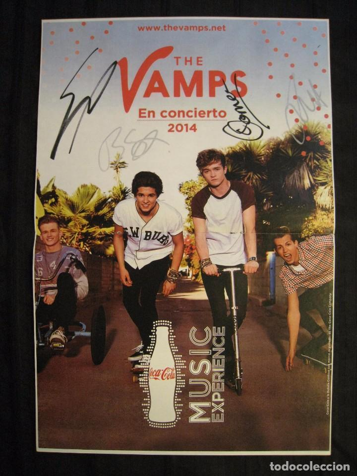 DOBLE POSTER BRAVO - THE VAMPS / ONE DIRECTION - 42 CM X 28 CM. (Cine - Posters y Carteles - Musicales)
