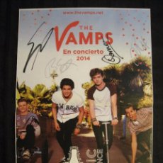 Cine: DOBLE POSTER BRAVO - THE VAMPS / ONE DIRECTION - 42 CM X 28 CM.. Lote 95674447