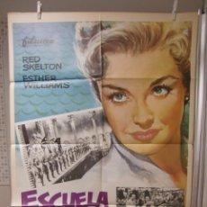 Cine: CARTEL CINE ORIG ESCUELA DE SIRENAS (1944) 70X100 / ESTHER WILLIAMS. Lote 95734383