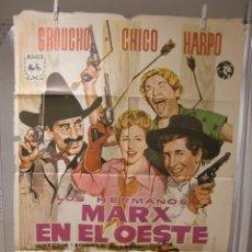 Cine: CARTEL CINE ORIG LOS HERMANOS MARX EN EL OESTE (1940) 70X100 / HERMANOS MARX. Lote 95800051