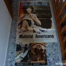 Cine: POSTER DE MATERIAL AMERICANO + 2 POSTALES DE YENTL. Lote 95811727