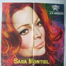 Cine: VARIETES, CON SARA MONTIEL. POSTER 67 X 95 CMS. 1971. JANO.. Lote 95816043